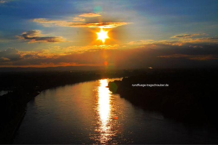 Sonnenuntergang zwischen Mannheim und der blauen Adria/ Germany