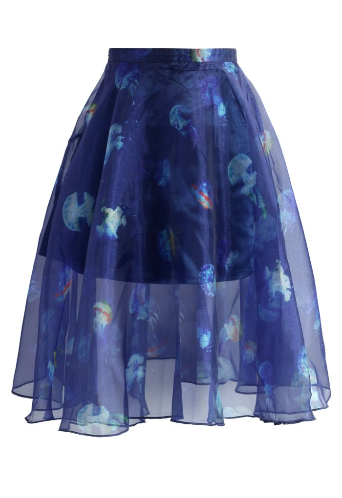 Jellyfish Frills Organza Skirt - New Arrivals - Retro, Indie and Unique Fashion