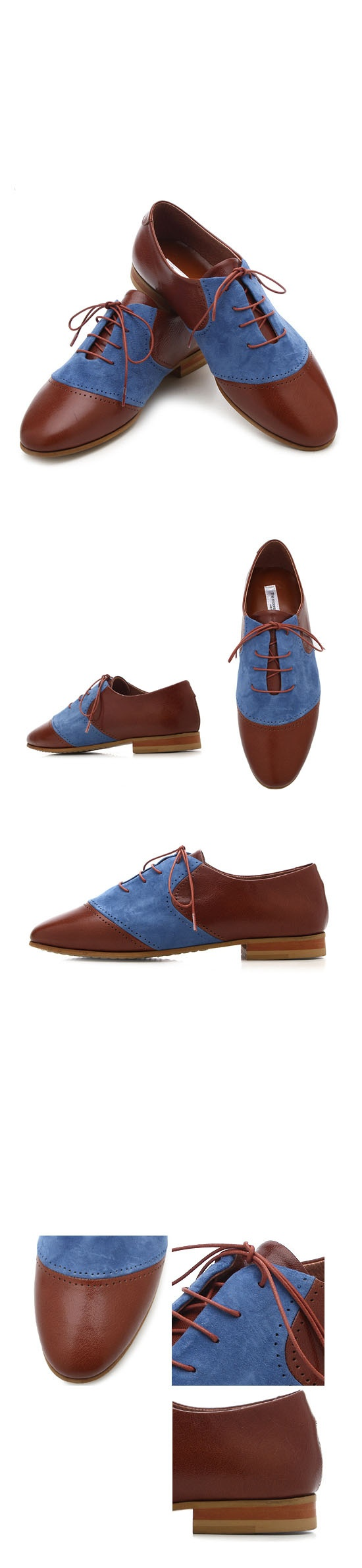 Shoes :: Charming Contrast Derby Flat-Shoes 119 - Mens Fashion Clothing For  An