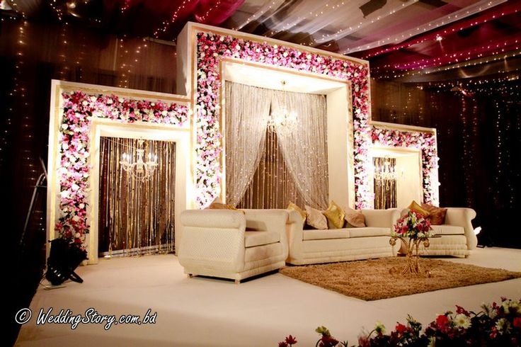 beautiful wedding stage