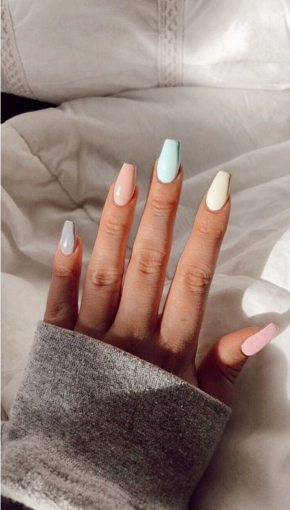 60 Trending Coffin Nails Designs For You In 2019 Spring And Summer
