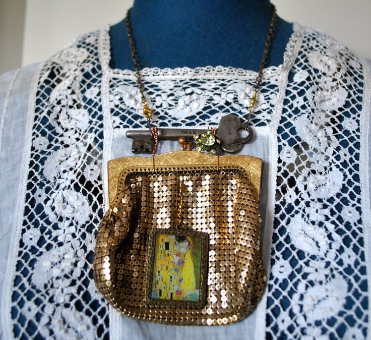 Klimt Glomesh Purse Necklace - Two Roads