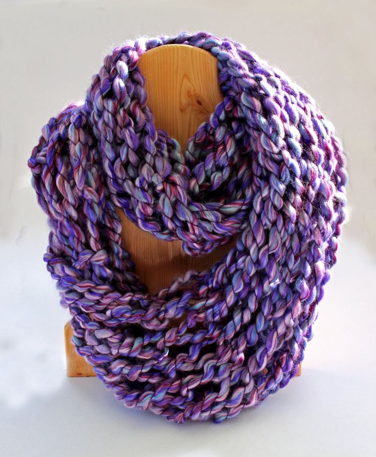 Chunky Knit Scarf - Hand knitted scarves for women -  Fashion Scarf - Oversized knit infinity scarf - oversized knits are trending now by KnitaBitofWhimsy on Etsy