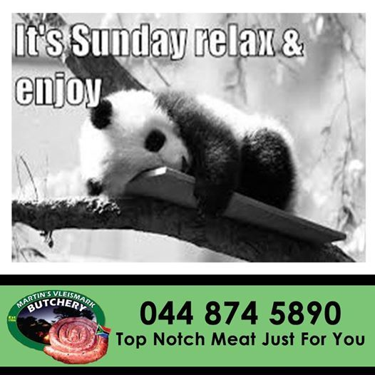It's #Sunday - #relax and enjoy with family and friends. We at Martin's Vleismark wish everyone a happy Sunday.