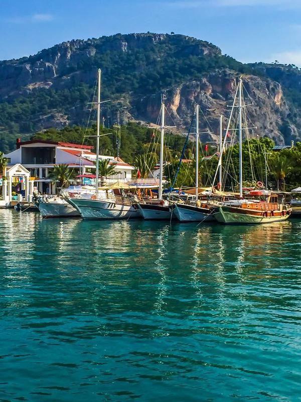 Boat Trip to #Gocek Market from #Fethiye .... TURKEY