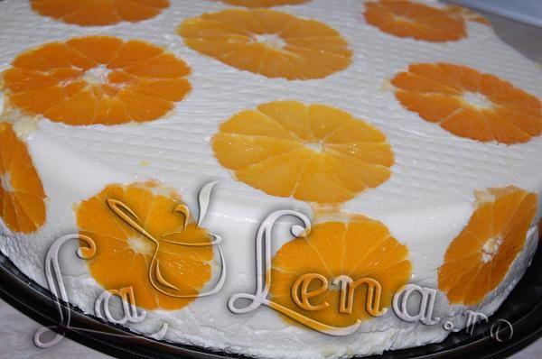 Tort Diplomat cu portocale