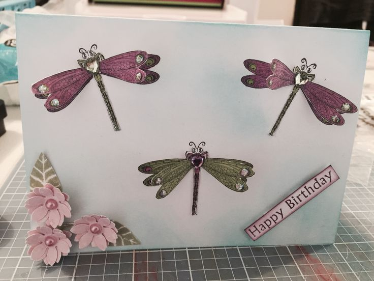 Beautiful Dragonfly Card. Designed by Kristy Knight-Independent Kaszazz Consultant