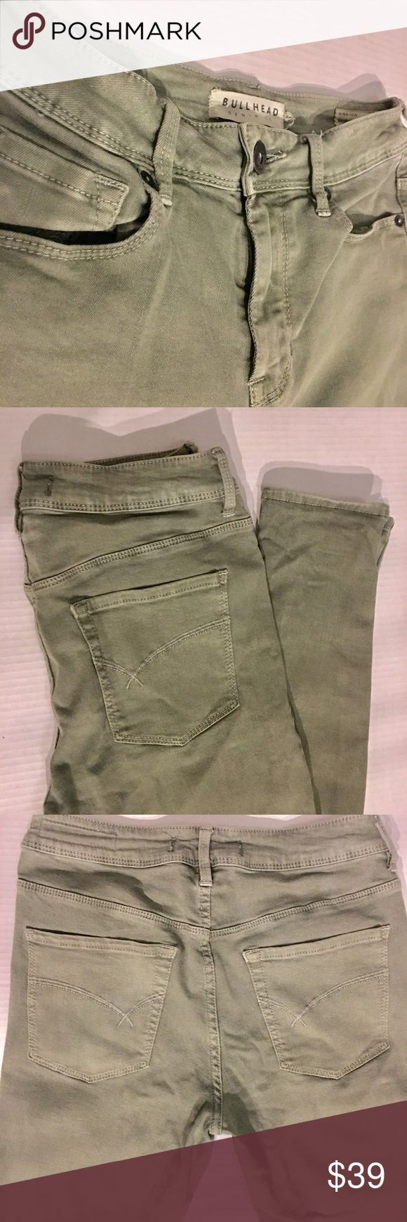 Bullhead Olive Green Skinny Jeans Bullhead Olive Green Skinny Jeans • Excellent Condition • Distressed Customization Available for $10 more • Next Day Shipping ✨✨ Bullhead Jeans Skinny