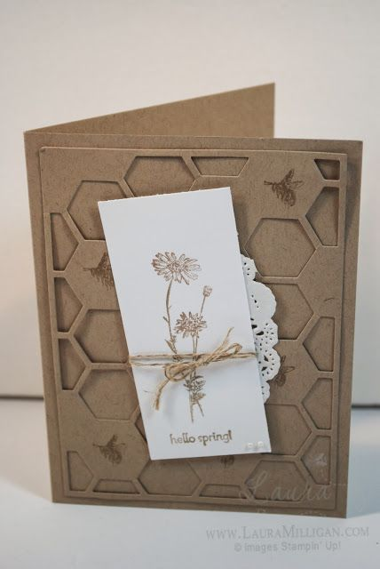 "Thursday, January 2, 2014 Laura Milligan, Stampin' Up! Demonstrator - I'd Rather ""Bee"" Stampin!: Springtime Hello"