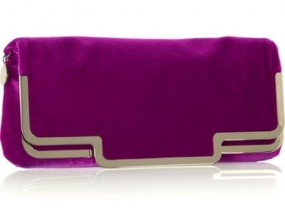 Stella McCartney velvet clutch.