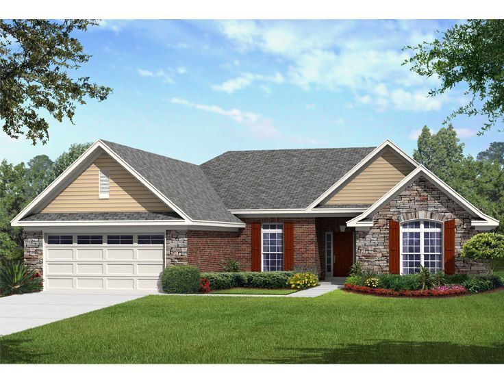 061h 0175 traditional one story house plan 2561 sf - House 1 Story