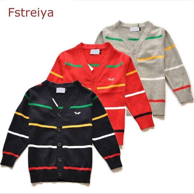Baby boys christmas sweaters girls striped cardigan boy