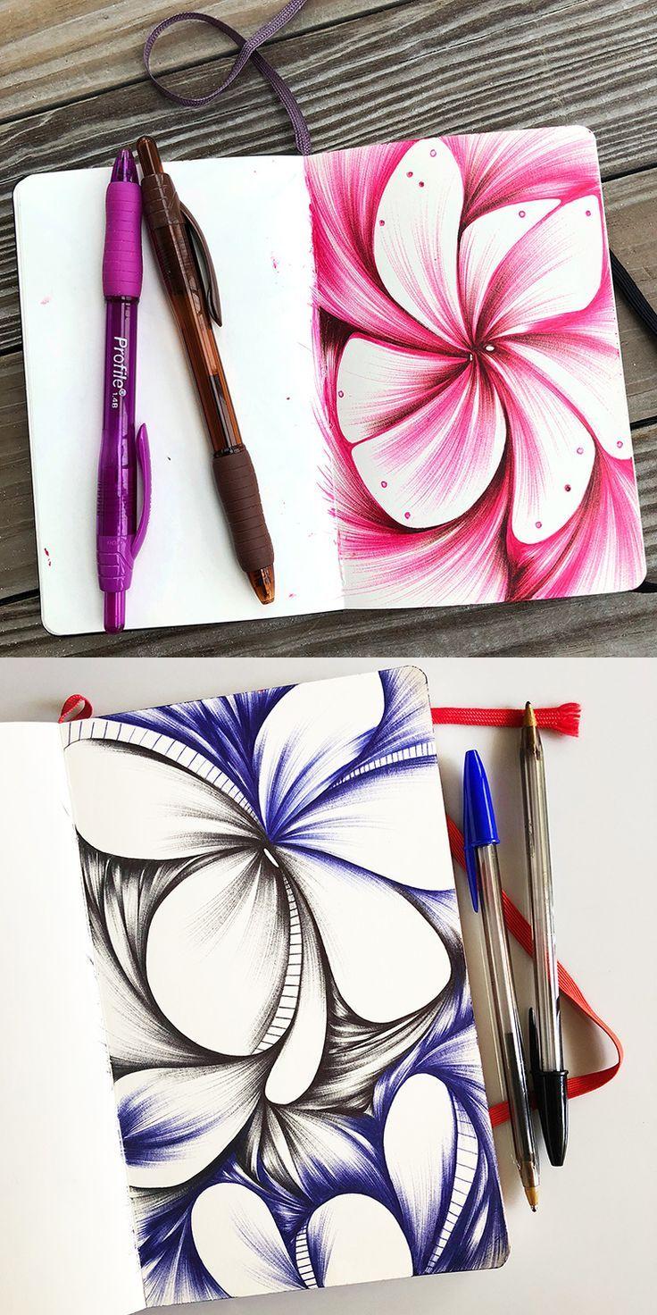 2018 Sketchbook Tour Ballpoint Pen Art Pen Art Sketch Book