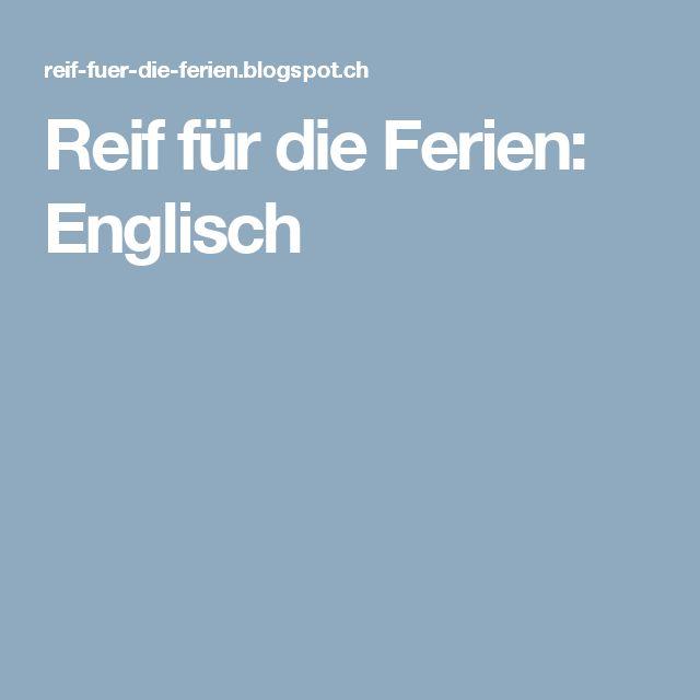 Reif für die Ferien: Englisch