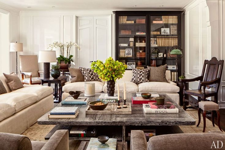 The living room Sandy Gallin recently created for the 1937 Wallace Neff house in L.A.'s Holmby Hills neighborhood.