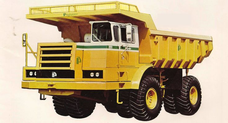 Factory photo of a 1985 model PayHauler 350B. A very smart looking rig from any angle, the basic PayHauler shape changed little externally over the machines entire production life