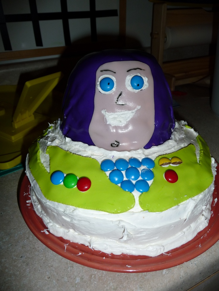 Buzz Lightyear Cake Made With Cricut Cake Mini And Toy