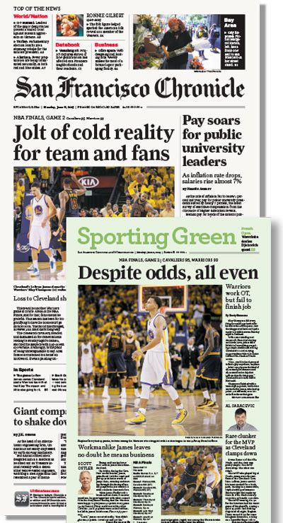 Chronicle 6/8 issue featuring NBA Final Game 2