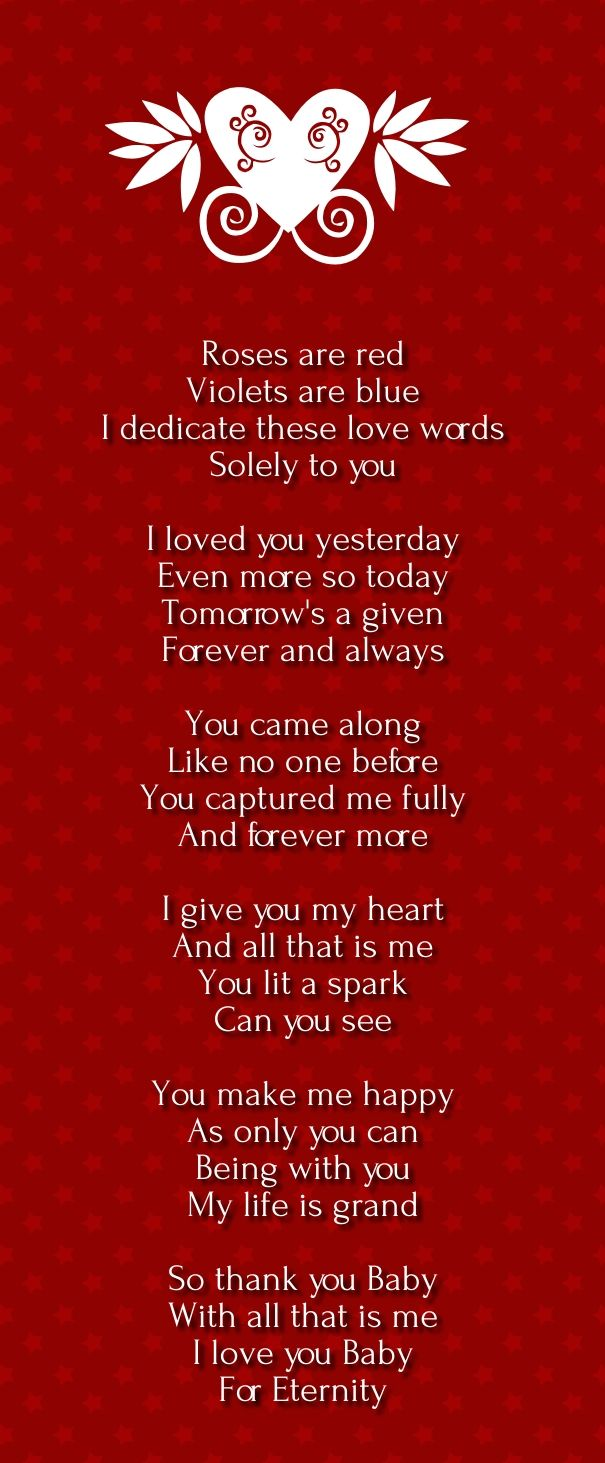 To show you love to your girlfriend or boyfriend with fun, you can use roses are red violates are blue poems. These are very famous line inspired from song and refereed as poem. Express your love by giving them some cute and funnyroses are red violets are blue love poems.These poems areextremely cute and absolutely …