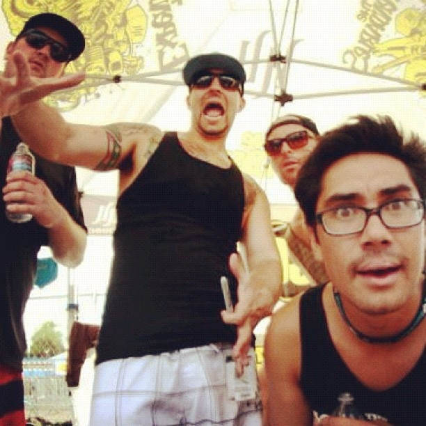Meet and greet pre acoustic set warped tour #theexpendables: Warped Tour