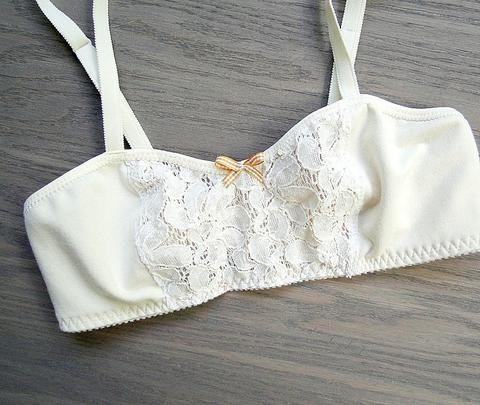 Cotton lace bralette