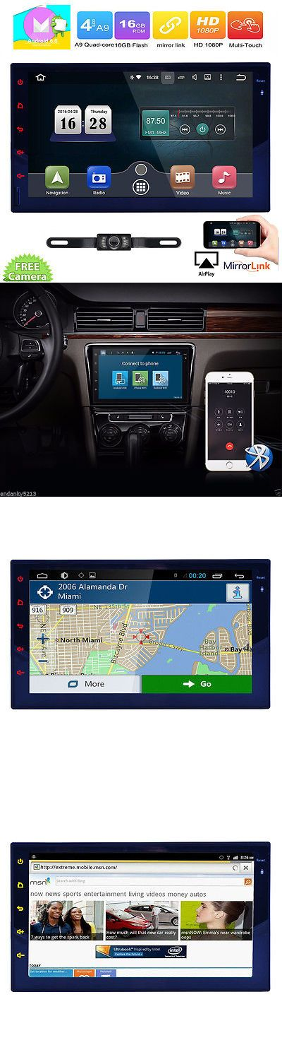 Vehicle Electronics And GPS: Quad Core Android 6.0 4G Wifi 7 Double 2Din Car Radio Stereo Mp5 Player Gps Nav BUY IT NOW ONLY: $178.92