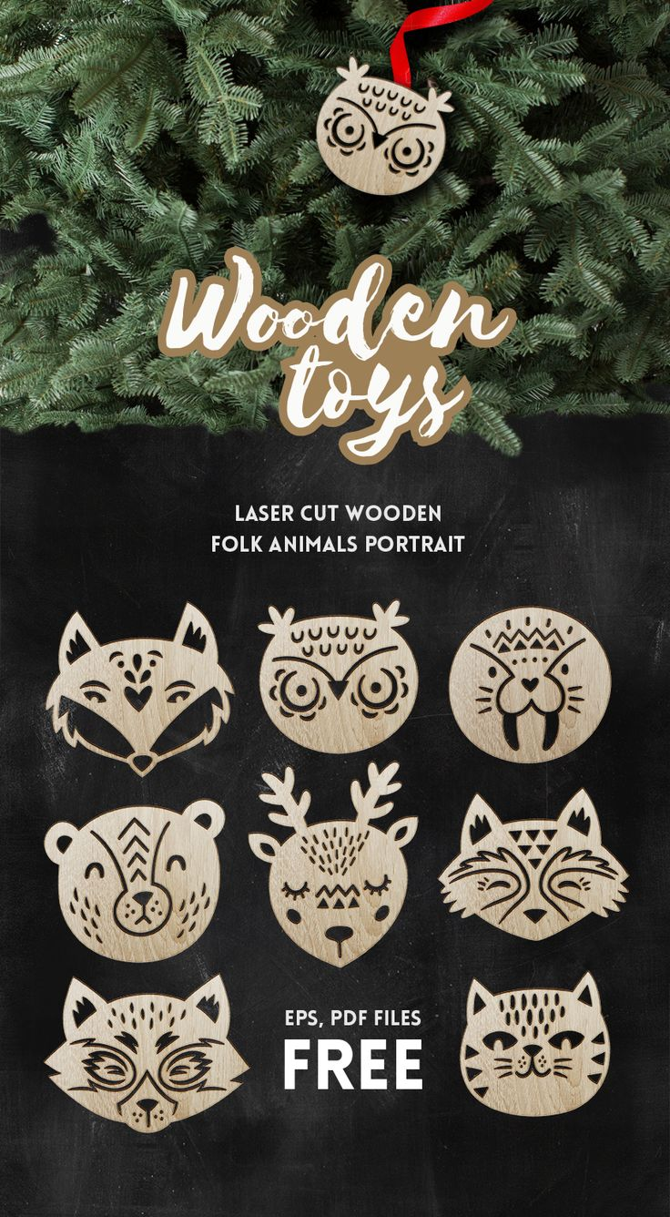 Wooden Toys Free Vector models