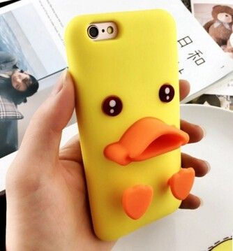Cheap iPhone 6s Plus Yellow Duck Case, Cool iPhone 5s little duck case cover