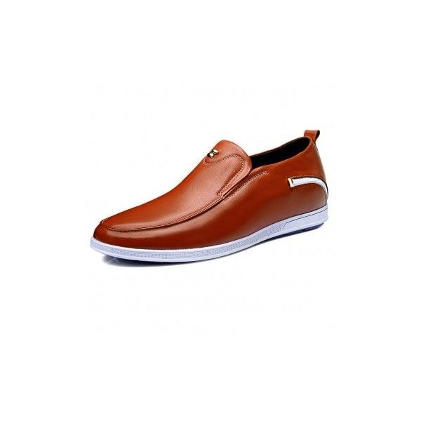 Slip on men taller casual loafers increase 2.4inch / 6cm -... via Polyvore featuring men's fashion, men's shoes, mens slipon shoes, mens brown shoes, mens brown loafer shoes, mens slip on shoes and mens loafer shoes