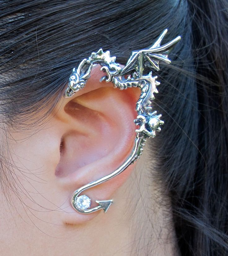 etsy: silver dragon ear wrap                Marty Magic Jewelry