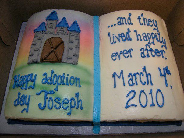 Happy Adoption Day! Love this cake.