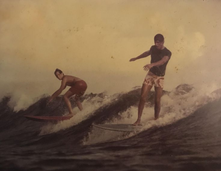 My dad (left) surfing with Mark Spitz (right) in the 60's http://ift.tt/2kbajlW