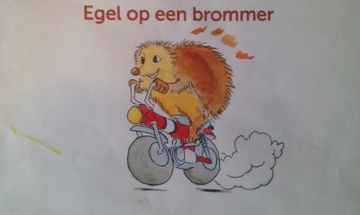 Hedgehog on a bike. Childbook illustrations and drawings. Designbyrolf