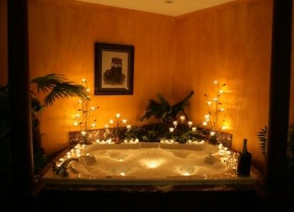 Out of Africa room at - Hideaway Country Inn. Find this Pin and more on Candlelit  Baths ...