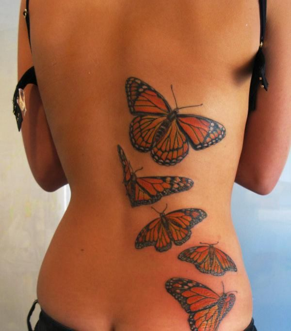 35 Incredible 3D Butterfly Tattoos I'm not a big butterfly person, but that is badass.