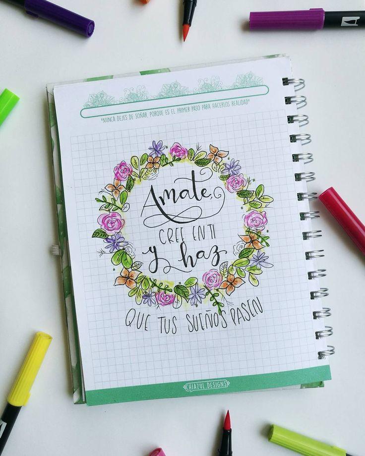 """(@chiazul.designs) en Instagram: """"*Cuadernos personalizados* A M A T E Amate amateee C R E E E N T I con todas las fuerzas de tu…"""""""