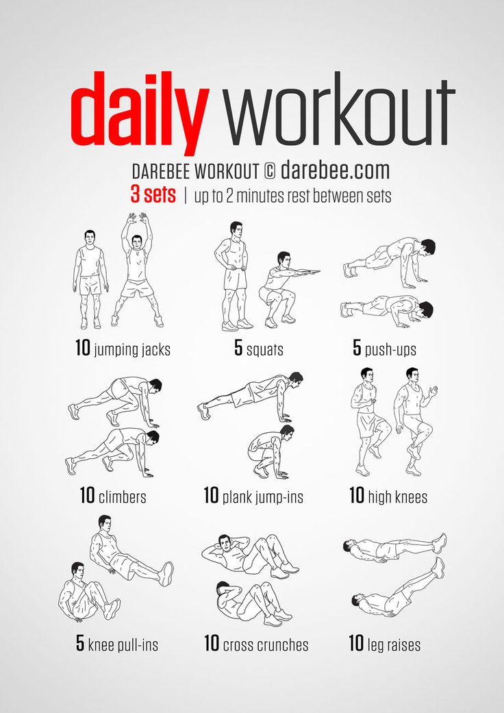 a simple no equipment workout for every day nine exercises ten reps per set visual guide. Black Bedroom Furniture Sets. Home Design Ideas