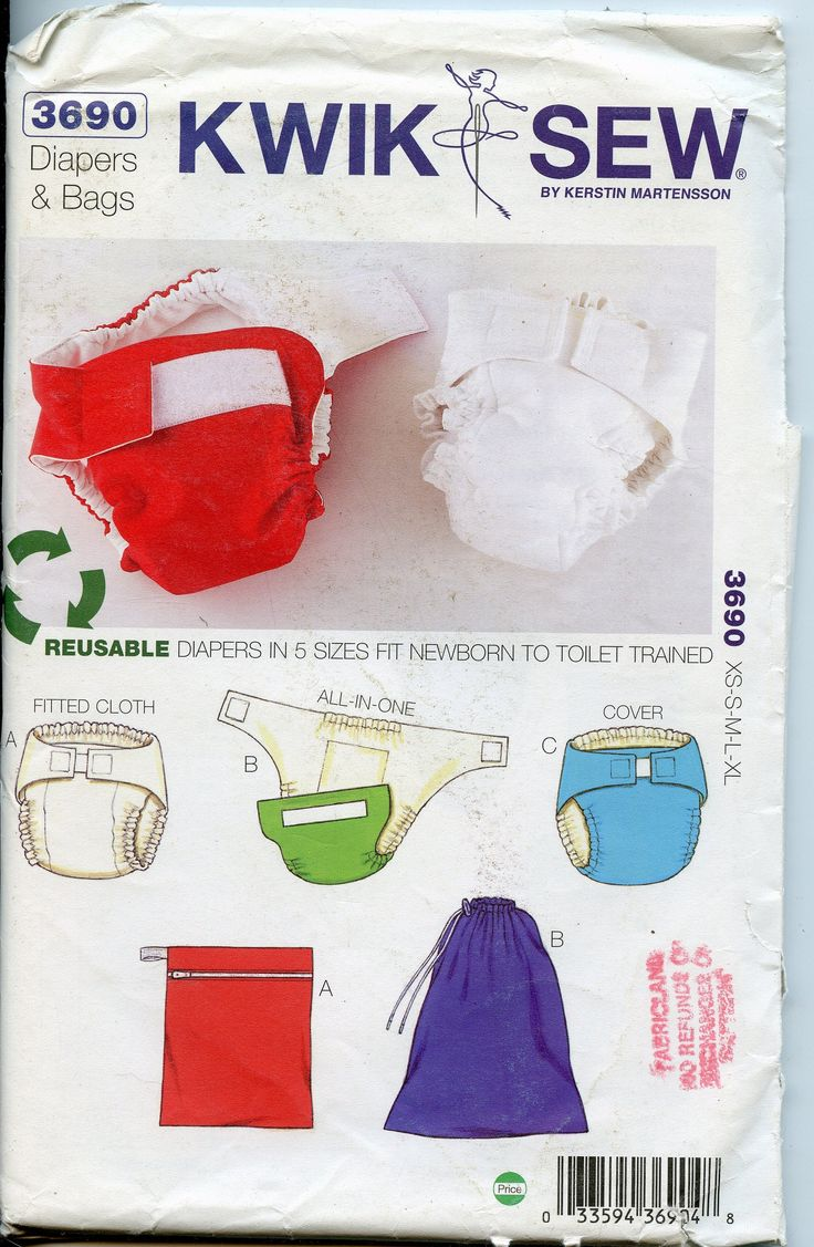 Cloth diaper sewing patterns newborn to potty trained