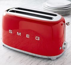 Modern style red toaster
