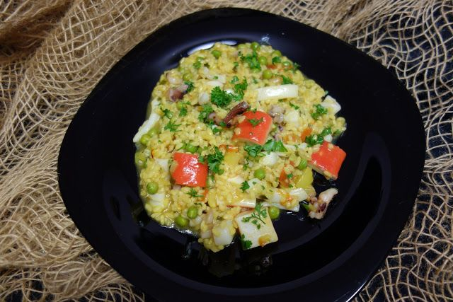 LA VERA  IN BUCATARIE: Paella cu fructe de mare