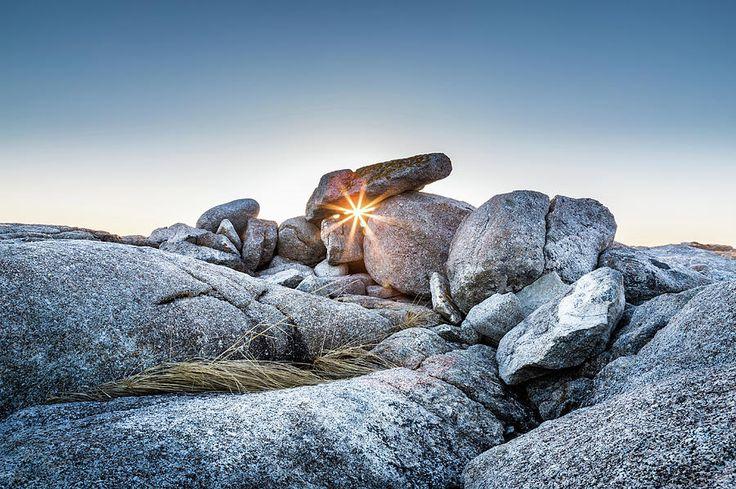 Sunburst At Peggy's Cove, Nova Scotia by Mike Organ