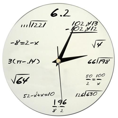 Matematik Duvar Saati | suave.com.tr