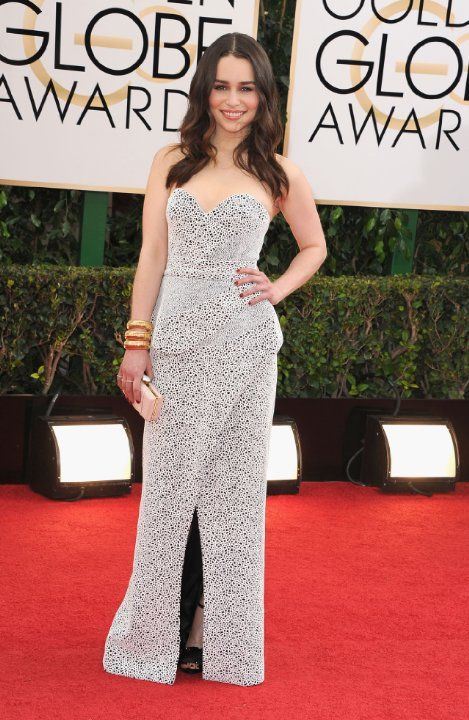 I love Emilia Clarke in this  number. So much texture and its so fun. She is rockin' it!