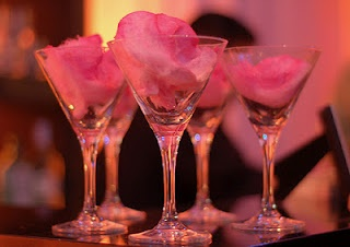 sweet martini. algodón de azúcar.