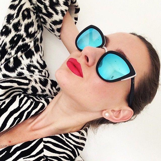 Quay My Girl Black / Blue Sunglasses – New York Glass