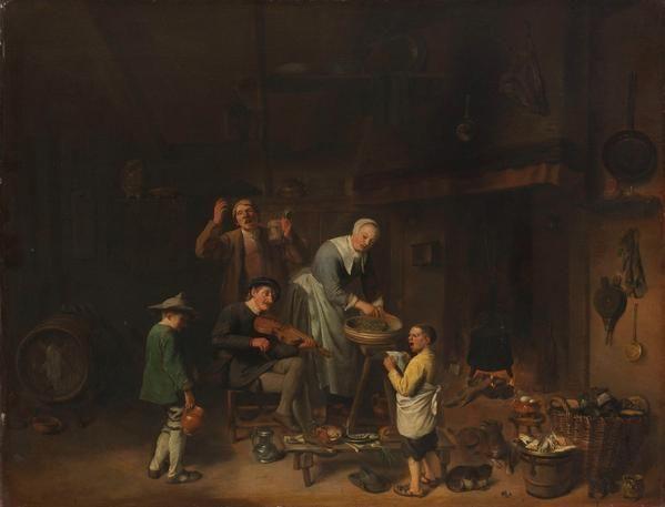 Pieter Jacobsz Duyfhuysen 1640 Peasant Family Singing Art Print Fine Art Reproduction Wall Art Europeana