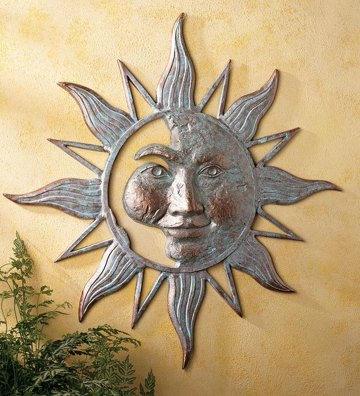 sun face art fresh for wall ideas nice iron decor home outdoor exterior decoration metal of
