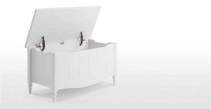 Cara, un coffre à jouets, blanc | made.com