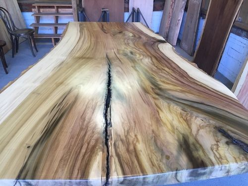 Large Finished Poplar Slab 4995 Wood Slab Table Live