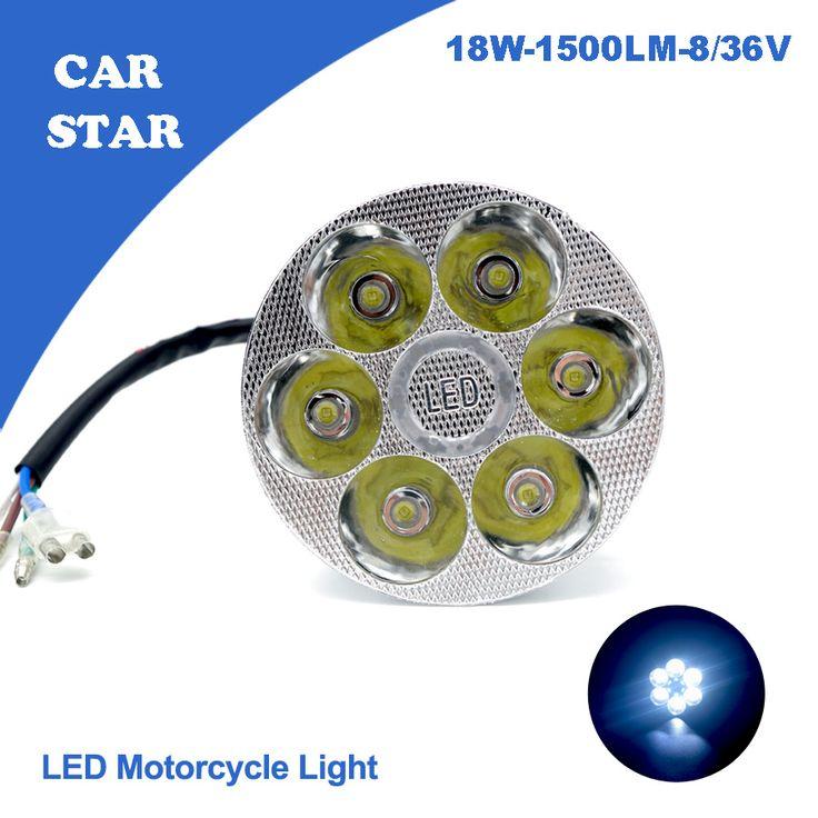 1 PCS 2016 Universal OSRAM 45U LED Motorcycle Headlight 8-36V 18W 1500LM White Waterproof High/Low Conversion For Harley Honda